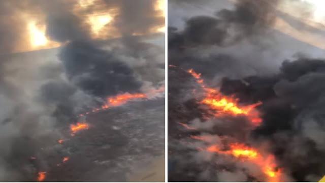 Oliveira dos Brejinhos/BA: Incêndio florestal de grandes proporções atinge área de mata