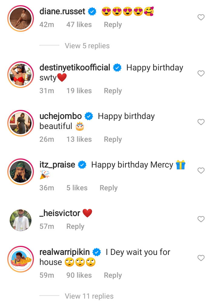 Obi Cubana, Destiny Etiko and others celebrates Mercy Eke as she turns 28-years-old today (See pictures)