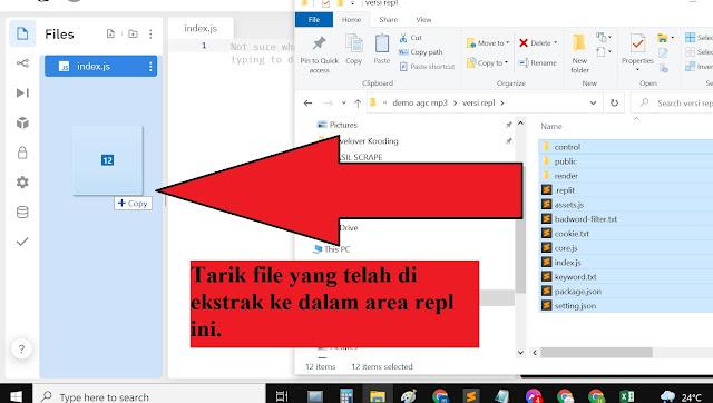 cara import file ke dalam repl