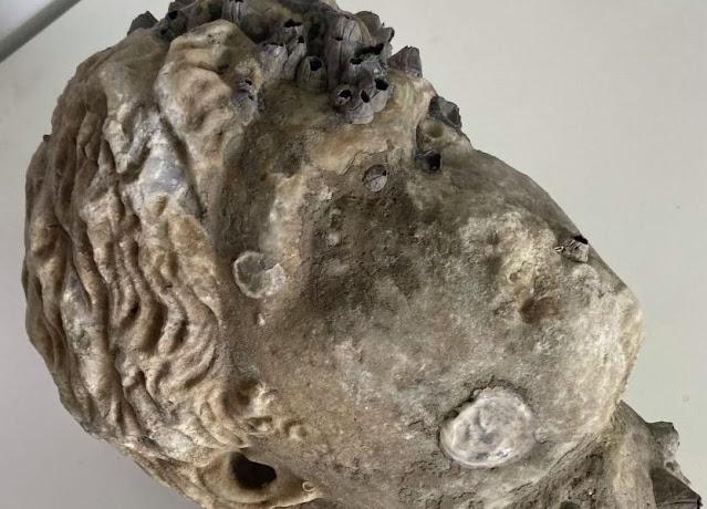 Roman-era marble head found off Western Greek coast