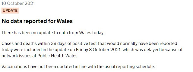 10th October no data for Wales