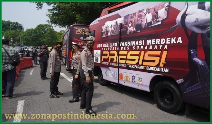 Polrestabes Surabaya Kembali Meluncurkan Inovasi Baru Untuk Mensukseskan Serbuan Vaksinasi