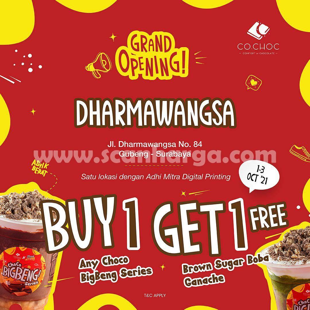 COCHOC Dharmawangsa Gubeng Surabaya Opening Promo Buy 1 Get 1