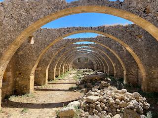Monastery Agios Georgios, Karydi - old olive oil mill.
