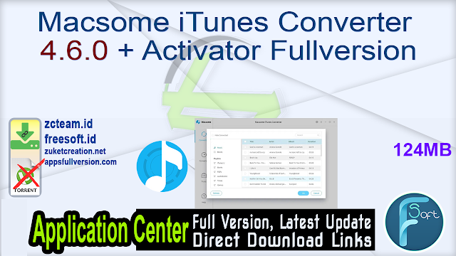 Macsome iTunes Converter 4.6.0 + Activator Fullversion