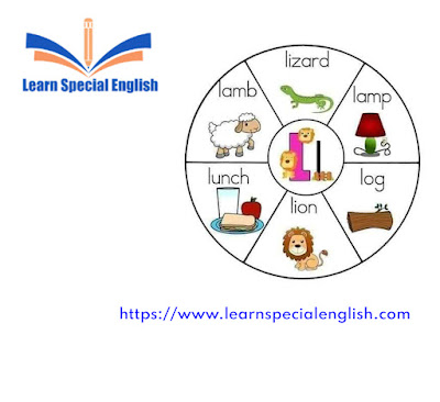 6 common English words that start with the letter L for kids
