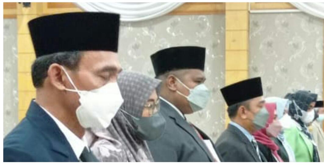 77 Orang Pejabat Struktural Eselon lll dan Eselon lV Dilantik Sekretaris Daerah Tanjabbar