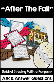 After the Fall Guided Reading growth mindset for kids