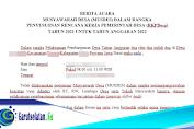 Contoh Berita Acara MUSDES Dalam Rangka Penyusunan RKPDesa Terbaru