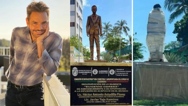 Tiran estatua de Eugenio Derbez en Acapulco por burda e  inaceptable.