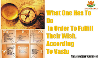 What One Has To Do In Order To Fulfill Their Wish,According To Vastu