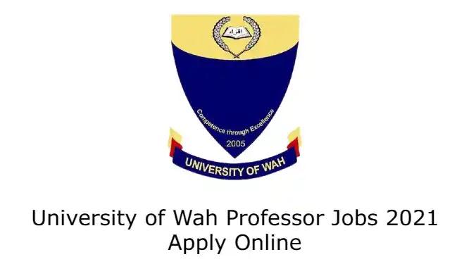 University of Wah Professor Jobs 2021 Apply Online