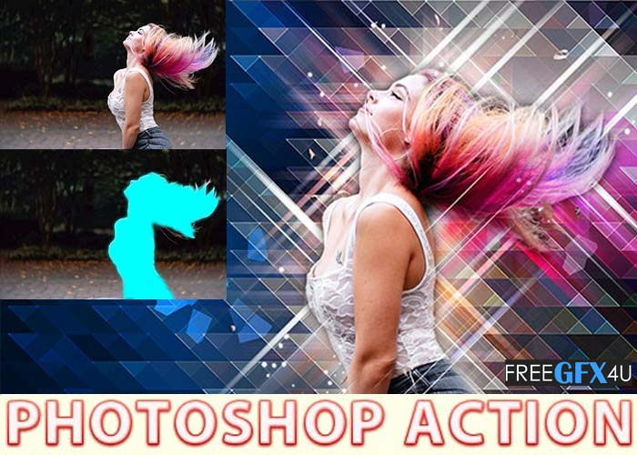 Low Poly Art Photoshop Action