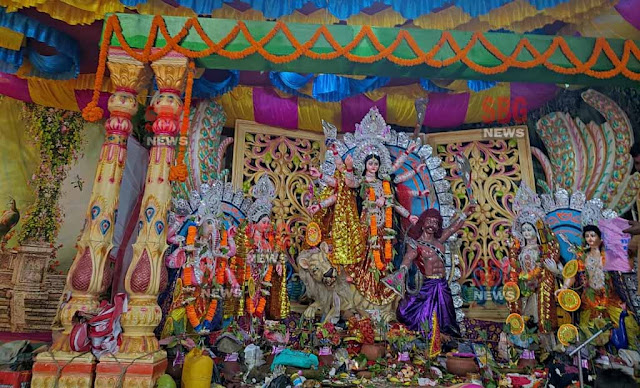 Devotees worship Mother Mahagauri, the eighth form of Mother, on Maha Ashtami with full devotion