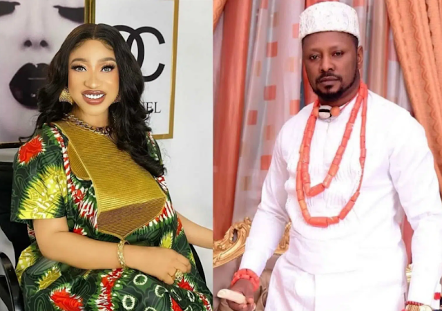 Nigerians react as Tonto Dikeh's ex-boyfriend, Prince Kpokpogri gets freed from police detention (Watch)