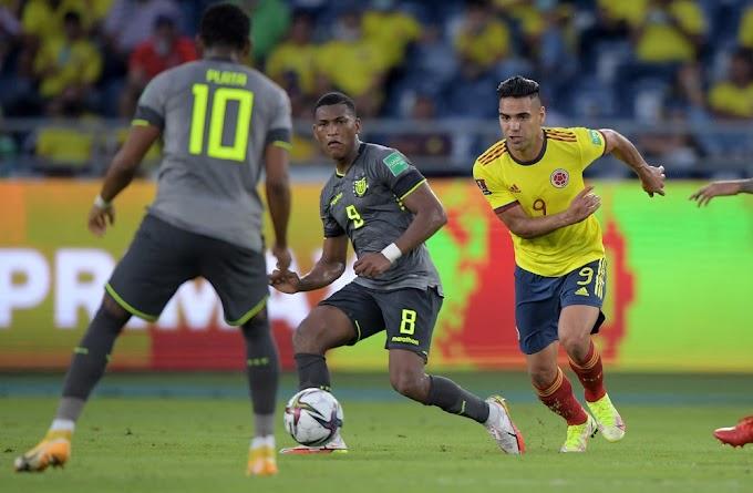¡Le metió la mano! Con polémica actuación del juez Diego Haro, Colombia tuvo que conformarse con un amargo empate ante Ecuador