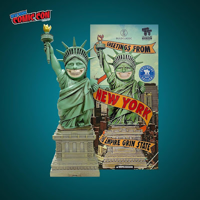 """New York Comic Con 2021 Exclusive """"The Empire Grin State"""" Liberty Grin Vinyl Figure by Ron English x MINDstyle x Build Classic x Toy Tokyo"""