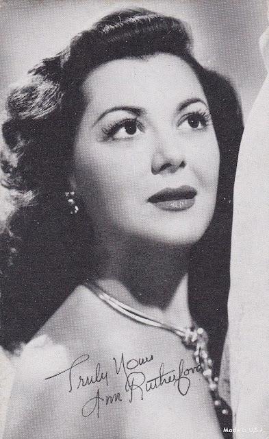 1940. Ann Rutherford - postcard