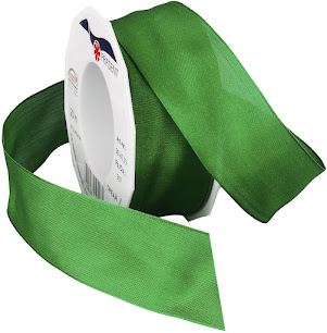 Green Taffeta Ribbons For Craft or Decor Projects