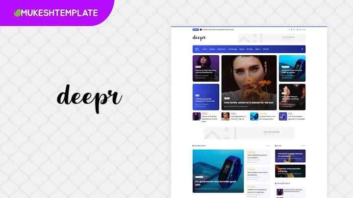 Deepr - Premium News & Magazine Blogger Template