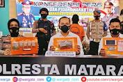 Polresta Mataram Ungkap Jaringan Pengedar Ganja Antar Daerah