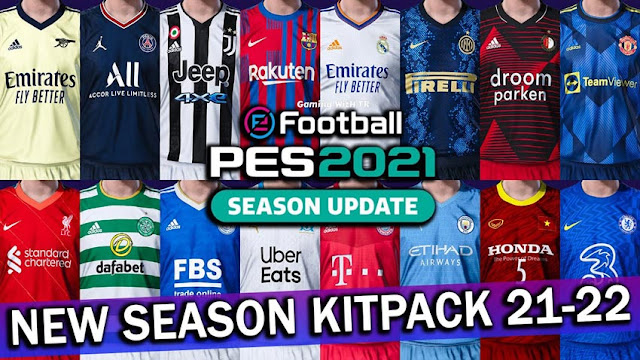 New Season Kitpack 2021-2022 For EvoWeb Patch 6.0 For eFootball PES 2021