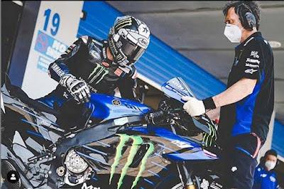 Vinales di skors Yamaha pada GP Austria, Karena berupaya merusak Mesin YZR M-1