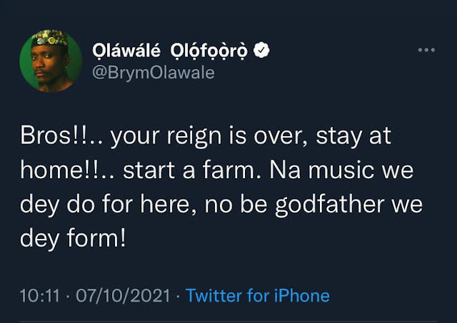 Go Ahead with it- Singer Brymo reacts to the Lawsuit of N1Billion filed 2Face filed against him