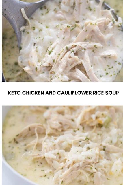 KETO CHICKEN AND CAULIFLOWER RICE SOUP