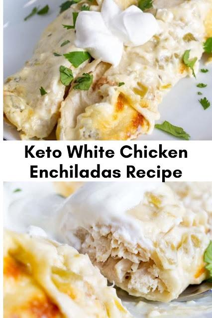 KETO WHITE CHICKEN ENCHILADAS WITH CREAM SAUCE
