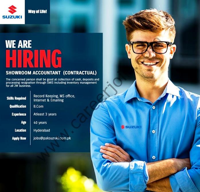 Pak Suzuki Motor Company Limited Latest Jobs Showroom Accountant