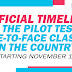 Official Timeline for the Pilot Test of Face-to-Face Classes in the Country