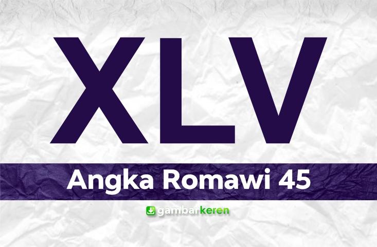 Angka Romawi 45