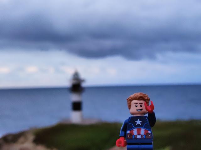 Lego capitán América Faro