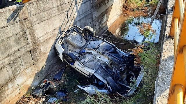 Νεκρός ο οδηγός αυτοκινήτου που έπεσε σε αρδευτικό κανάλι