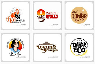 Ide mockup logo rumah makan gratis - kanalmu
