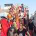 सरधना में हर्षोल्लास के साथ निकाली गई दुर्गा माता की शोभायात्रा