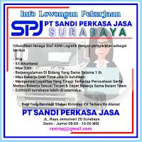 Loker Surabaya di PT. Sandi Perkasa Jasa September 2021