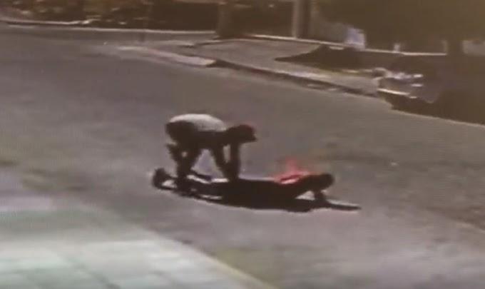Idoso é assaltado e agredido com garrafada na cabeça no Bairro Santo Antônio, em Patos