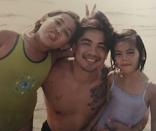 Iana Bernardez's childhood picture of with her father & sister