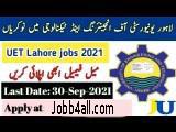 uet lahore jobs pakistan 2021