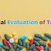 General Evaluation Tests of Tablets