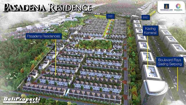 jual rumah cluster pasadena residence