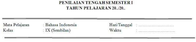 Soal Dan Kunci Jawaban PTS Bahasa Indonesia Kelas 8 SMP