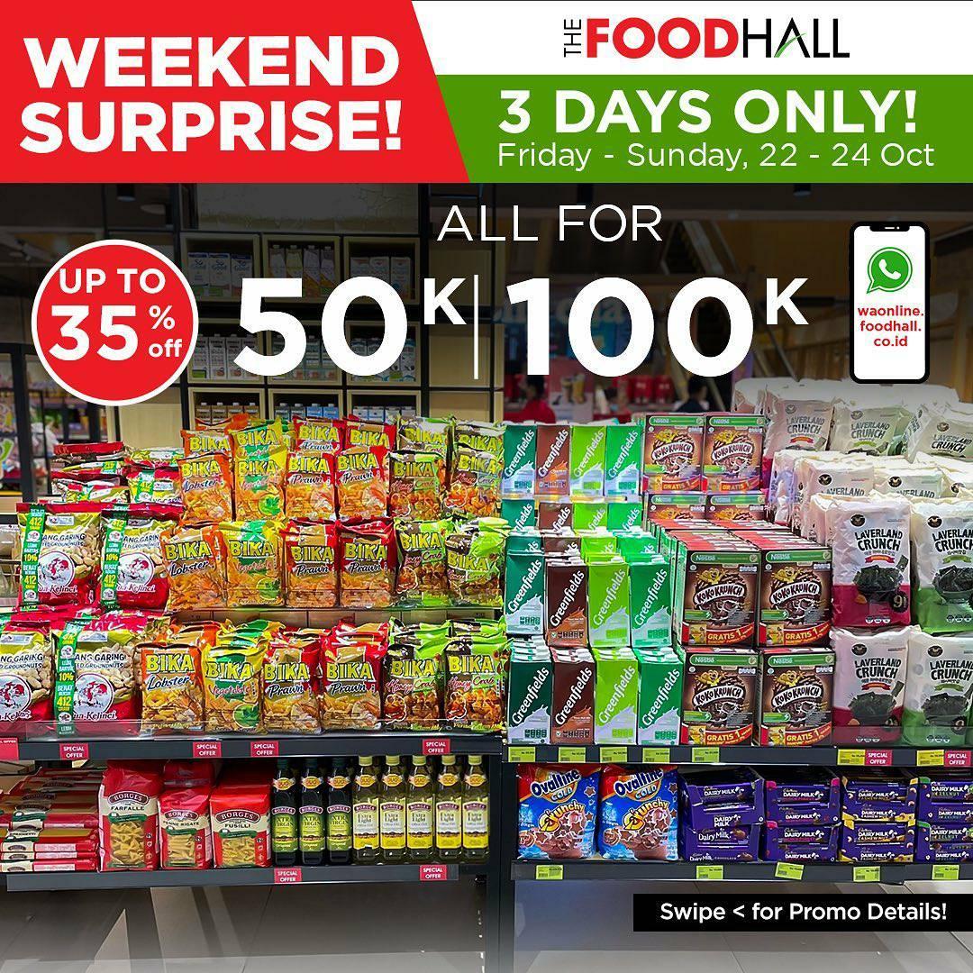Promo JSM Foodhall Weekend Surprise Periode 22 - 24 Oktober 2021