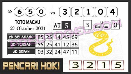 Prediksi Pencari Hoki Group Macau Rabu 27-10-2021