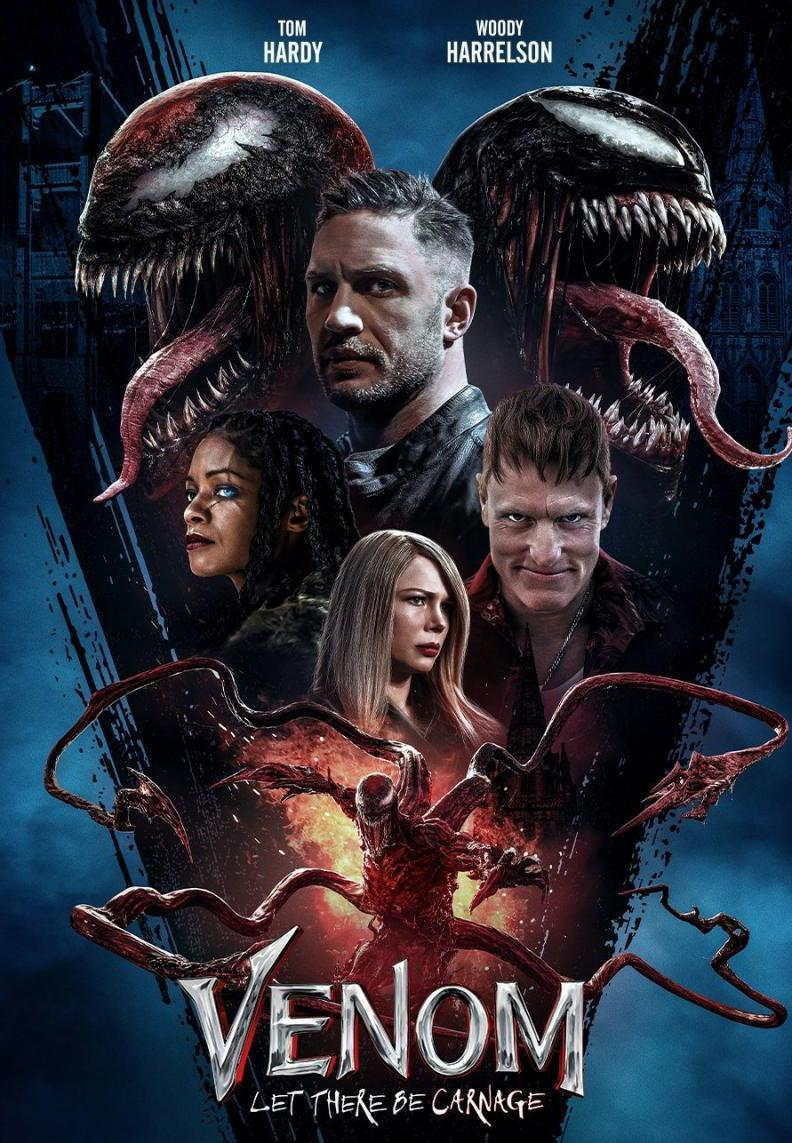 Download Venom Let There Be Carnage (2021) Full Movie in Hindi Cam Dual Audio BluRay 720p [1GB]