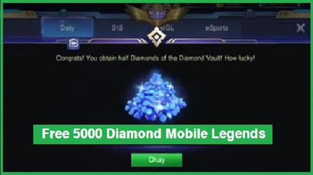 Free 5000 Diamond Mobile Legend