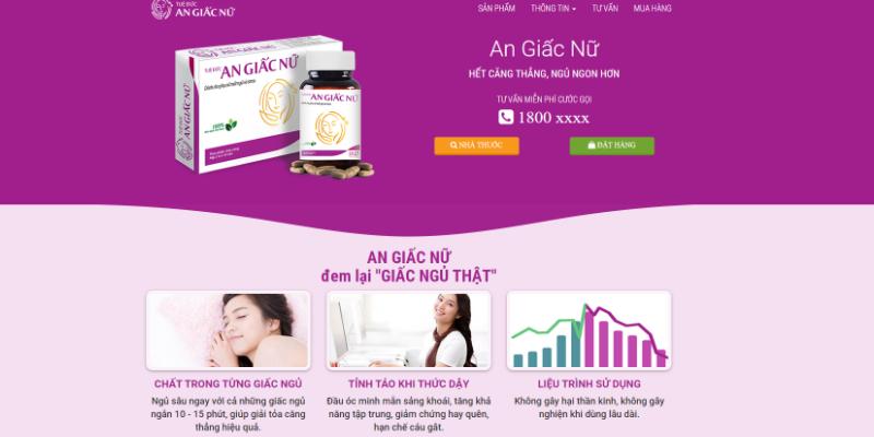 Mẫu landing page bán thuốc online miễn phí