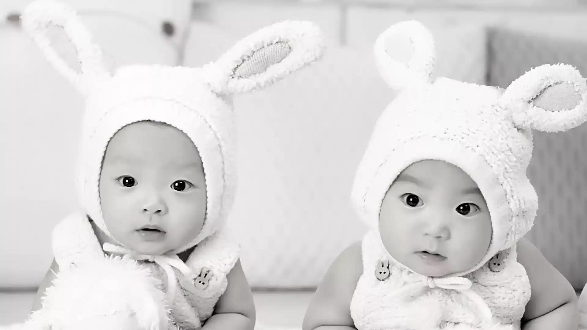 Black and white baby pics